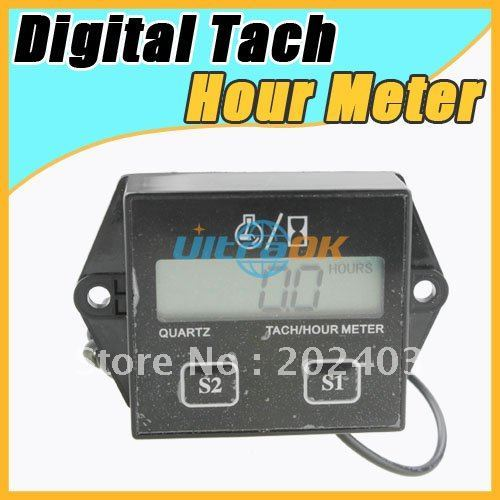 New Digital Tachometer Hour Meter for Motorcycle ATV Snowmobile gas engine jet ski pwc free shipping