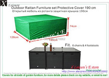 """Rattan furniture set Protective cover 190cm/74.8"""",6 chairs&4 footstools cover Free shipping(China (Mainland))"""