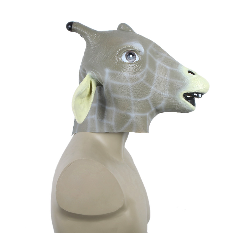 2016 Unique Latex Animal Giraffe Head Mask Halloween Costume Party Christmas Theater Prop Festive Party Supplies(China (Mainland))