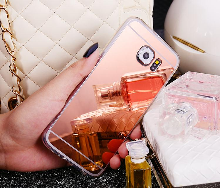 Rose Gold Mirror TPU Soft Silicone Case Protector Shell Cover For Samsung Galaxy S5 S6 edge Note 4 5 A5 A7 2015 A500 A500F A700