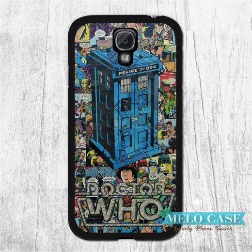 Retro Comic Doctor Case Samsung Galaxy S5 mini S4 Win Grand 2 1 Note 4 3 Tardis Phone Cover Free Ship - Melocase store