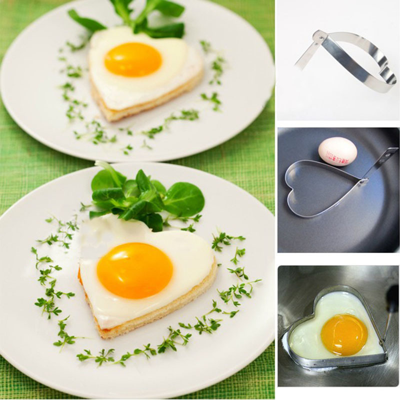 Practical Cute Kitchen Heart Love Shaped Cook Fried Egg Mold Pancake Stainless Steel Mould #9509(China (Mainland))