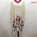 Women Bikini Dress Poncho and capes capas y rabbit mujer pashmina scarf cashmere shawl embroidered flower