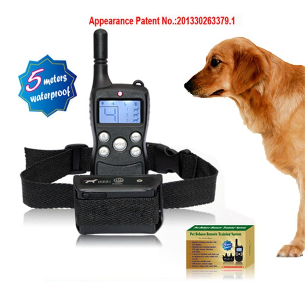 LCD Display 300M Remote Control Pet dog Training Collar Rechargeable Waterproof Electric Shock Shocking Vibrate For New Arrivals(China (Mainland))