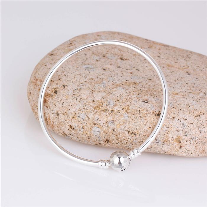 925 Sterling Silver Bracelet Fit Pandora Bracelet with Brand LOGO European Charm Bead Jewelry Free Shipping(China (Mainland))
