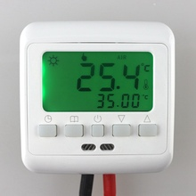 Buy Warm Floor Heating Digital Thermostat Underfloor Temperature Controller Weekly Programmable Green Backlight for $16.24 in AliExpress store