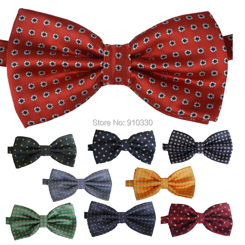 20s NEW Classic dot Bowtie man Fashion Neckwear Adjustable Unisex Mens Bow Tie Polyester Pre-Tied bowties 38 colors - Clothing supermarket store