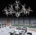 AC100 120V 220 240V High End Luxury Lustre LED pendant lights Modern Crystal LED lustres hanglamp