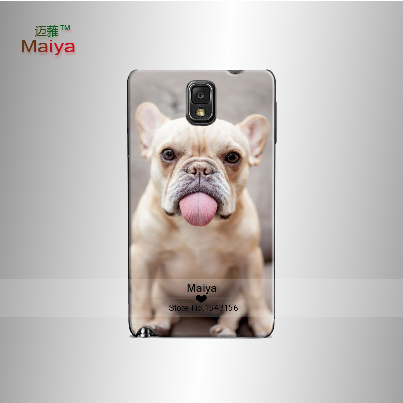 french bulldog fashion cover case Hard Phone Cases Skin Shell For galaxy note3 Back Cover Bags(China (Mainland))