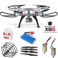 Free Shipping! Syma X8G 2.4G 360 Degree 3D Flip RC Drone Quad 8MP Cam+Spare Motor+Battery+Blade+Guard