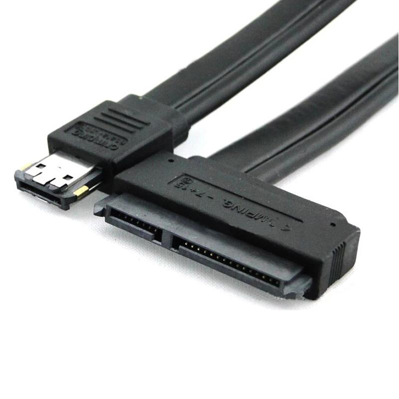 Scolour New Dual Power eSATA USB 12V 5V Combo to 22Pin SATA USB Hard Disk Cable(China (Mainland))