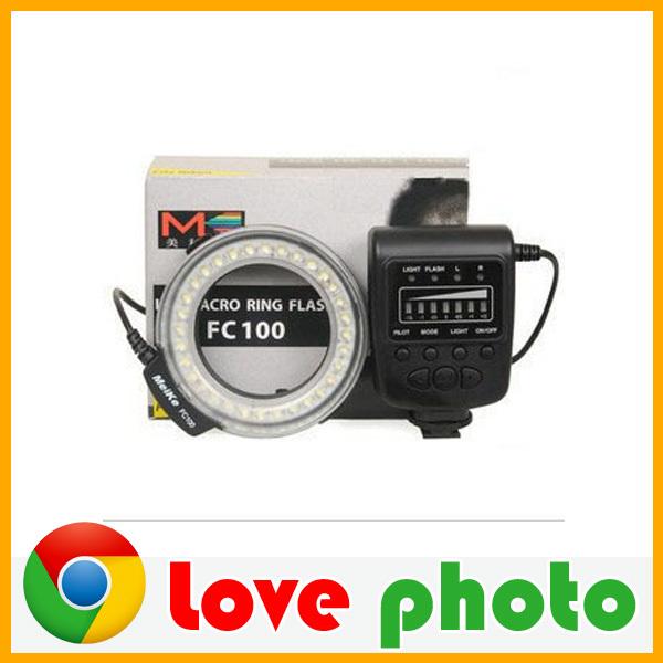 Meike FC100 LED Macro Ring Flash light For Canon 650D 7D 5DII 60D 50D Camera DSLR<br><br>Aliexpress