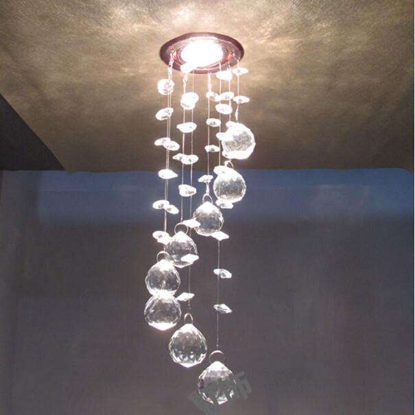 chandelier crystal spiral sphere 3w led lustre crystal. Black Bedroom Furniture Sets. Home Design Ideas
