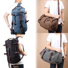 2016 New High Quality Men Vintage Canvas Backpack Laptop Rucksack Outdoor Travel Hiking Climbing Shoulder Duffle Bags(China (Mainland))