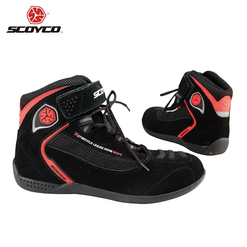 SCOYCO Professional Motocross Off-Road Boots Dirt Bike Street Racing Riding Ankle Boots Genuine Cow Leather Motorcycle Shoes<br><br>Aliexpress