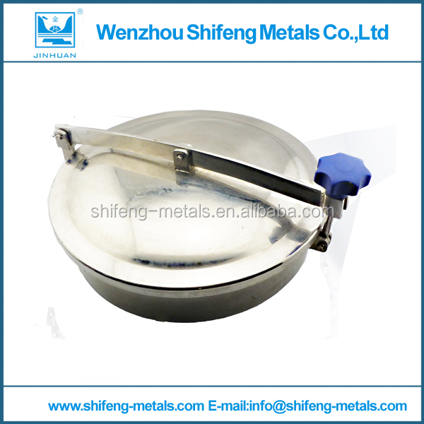 500mm Stainless steel 316L Circular manhole cover without pressure, Height:100mm(China (Mainland))