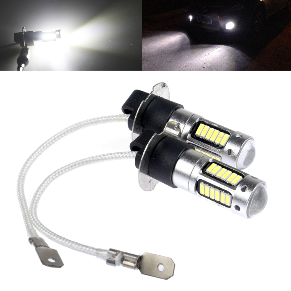 NEW H3 30 led car light Fog led high power lamp 4014 smd Auto car led bulbs Car Light Source parking 12V 6000K drl white red(China (Mainland))