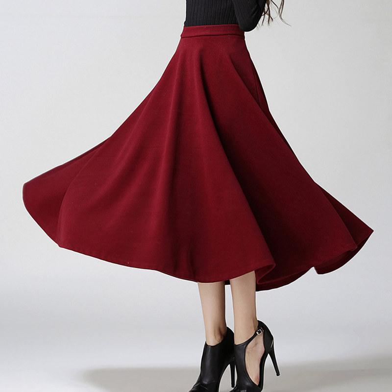 skirts autumn winter plus size a line high