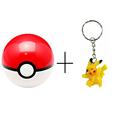 7cm Pokemon PokeBall 1 Pikachu Figure Keychain PVC Anime Action Figures Pokemon PokeBall Super Master Pokemon