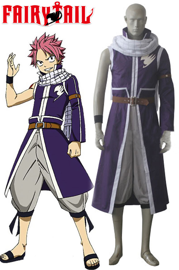 Fairy Tail Team Fairy Tail A Natsu Dragneel outfit costume CosplayОдежда и ак�е��уары<br><br><br>Aliexpress