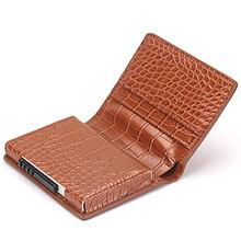 BISI GORO nouveau paquet de cartes de visite RFID protecteur mince crédit portefeuille porte-cartes en Aluminium hommes femmes portefeuille en métal pour cartes(China)