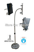 Security tablet floor holder stand mount brace with lock/lockable gooseneck arm safty kit for Apple iPad/10 to 12.6 inch