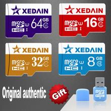 Xedain cartes mémoire Micro SD TF carte microSD carte Mini SD carte 4 GB / 8 GB / 16 GB / 32 GB / 64 GB classe 10 téléphones mobiles tablet(China (Mainland))