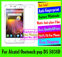 Buy Alcatel Onetouch pop D5 5038D LCD film Matte Anti-glare mobile protective film phone screen protector de pantalla projector for $1.48 in AliExpress store