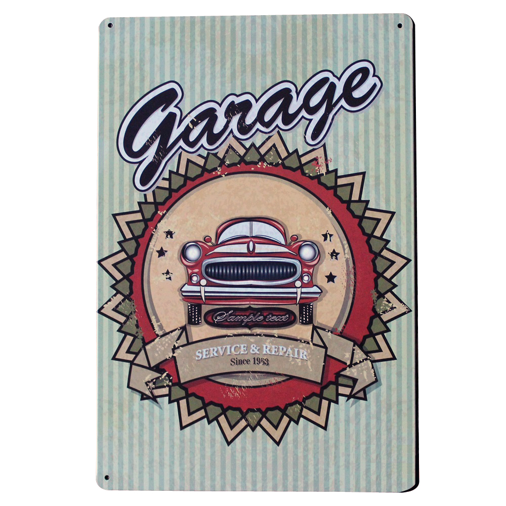 Vintage Tin Sign Automotive : Garage repair metal tin sign vintage plate decor antique