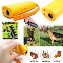 Environment Friendly ABS 9V 125dB 1M Effective Distance Ultrasonic Dog Repeller Chaser Dog Training LED Flashlight
