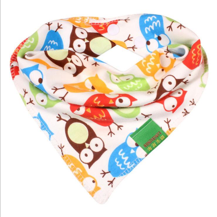 20 High quality double layers cotton baby bibs Burp Cloths Lovely Cartoon Character Animal Print baby bandana bibs dribble bibs(China (Mainland))
