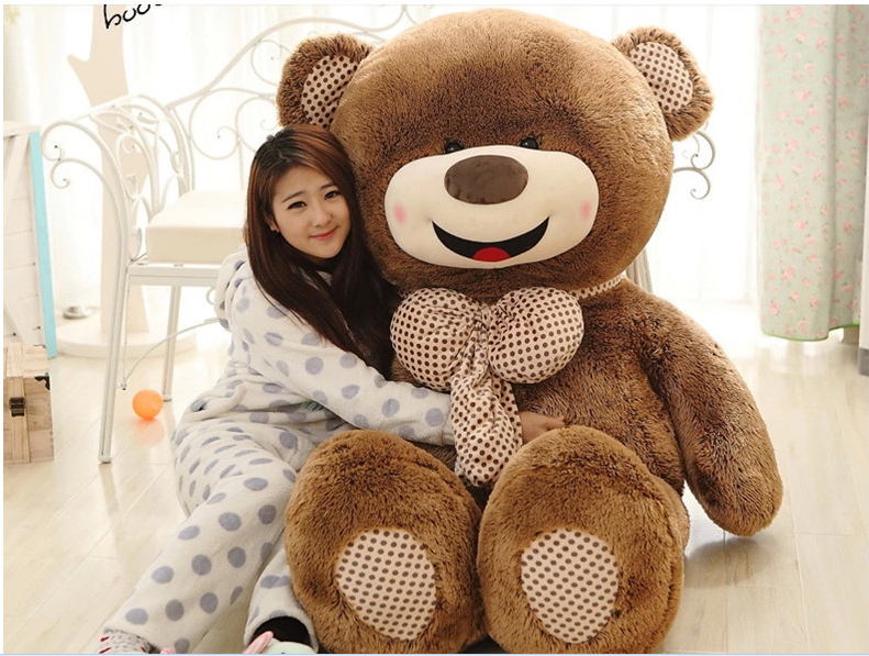 large lovely laughing teddy bear toy plush bow happy Hedgehog teddy bear doll gift about 160cm(China (Mainland))