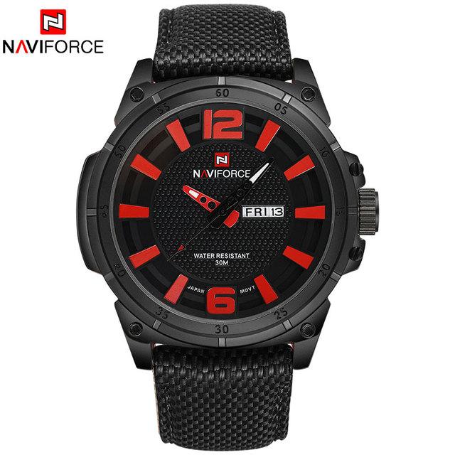 Zegarek męski NAVIFORCE wojskowo sportowy styl różne kolory
