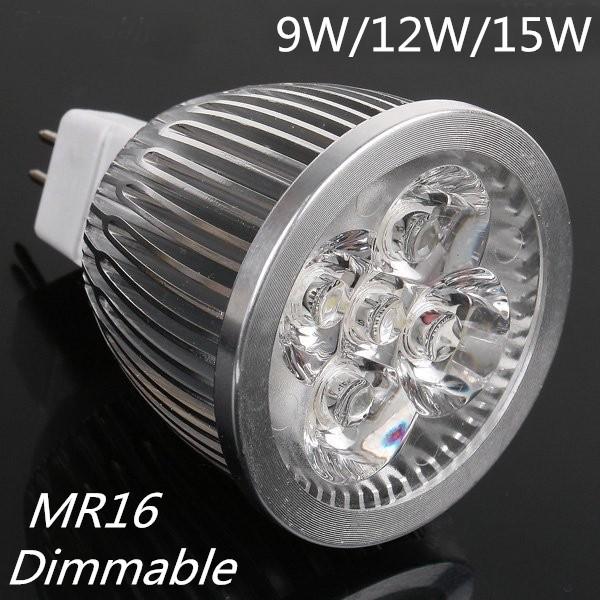 LED Spot light 9W 12W 15W MR16 GU10 E14 GU5.3 lamp Warm White cold white bulb Spotlight Free Shipping(China (Mainland))