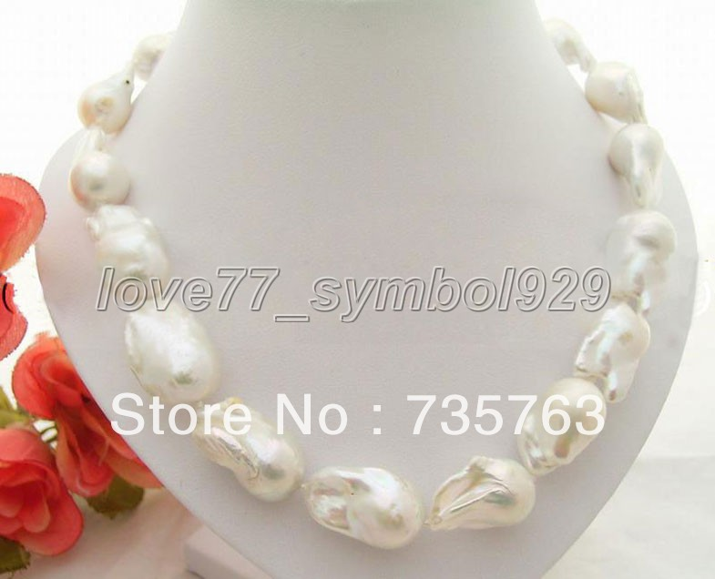 xiuli 0067 Excellent ! AAA White Reborn Keshi Pearl Necklace<br><br>Aliexpress