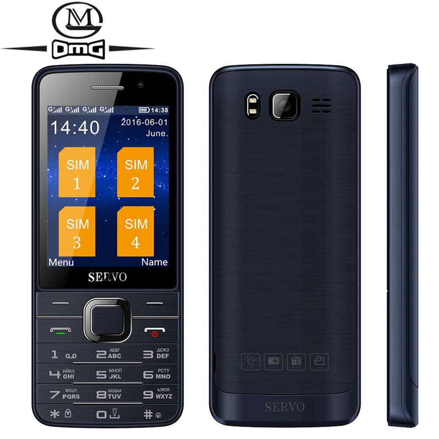 Original 2.8 inch SERVO V9500 4 SIM card Russian keyboard Old man mobile cell phone HD Big Screen GPRS Bluetooth 2 camera(China (Mainland))