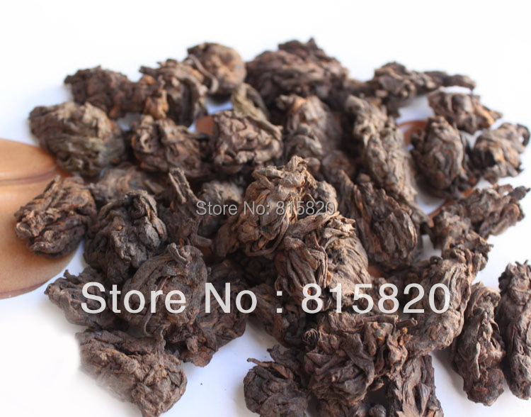 1kg Top quality 2002 year old loose puer head tea old ripe loose puer tea free