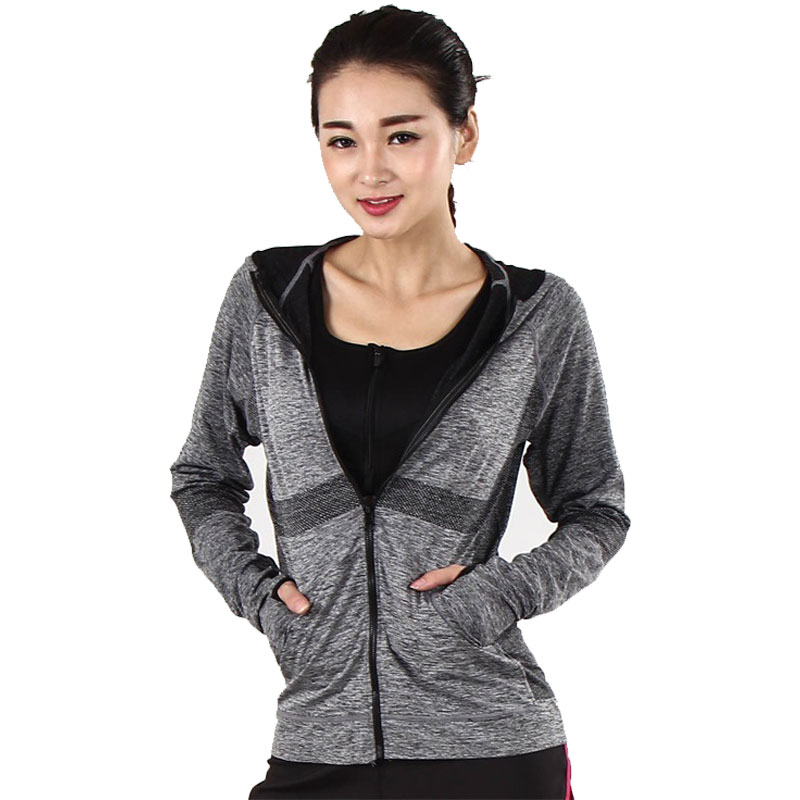 High Quality Women's Running Jacket Zipper Long Sl...