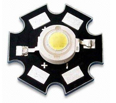 promotion!1W high power led,100-110lm,35mil led chip (taiwan epistar chip) with heatsink