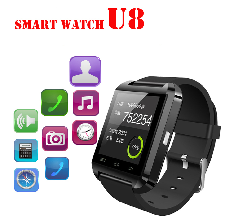 Bluetooth Smart Watch WristWatch U8 U Watch for Samsung Android Phone Iphone IOS7 Smartphones