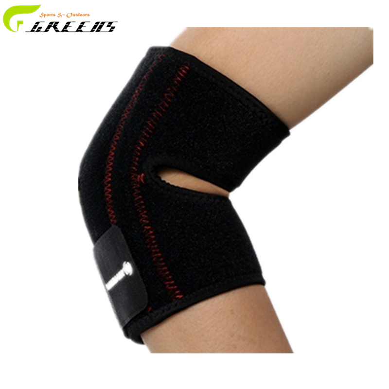 Elbow brace relief elbow pain adjustable elastic Strong Sports Badminton elbow support protector pad / arm warmers cycling(China (Mainland))