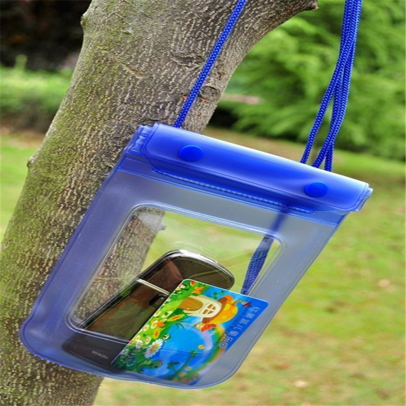 Unique Phone Waterproof Bag With Necklace Strap Dry Pouch Cases Cover for Swimming Underwater Sport Outdoor Activities(China (Mainland))