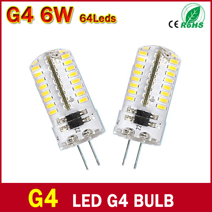 LED G4 DC 12V Led Bulb 3W 5W 6W Replace Halogen Lamp 360 Beam Angle SMD3014 SMD2835 Corn Light(China (Mainland))