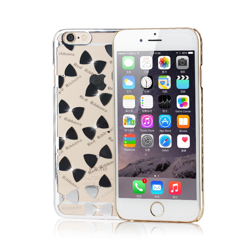SiciLY Case For Apple iphone 6S 6 4.7inch Luxury Rhinestone Gilded frame Ultra Thin Clean case Crystal Diamond Fashion cover(China (Mainland))