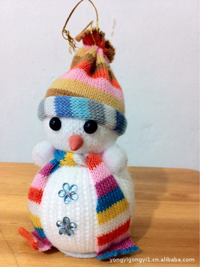 Christmas snowman Christmas decoration watermelon flannel baby doll(China (Mainland))