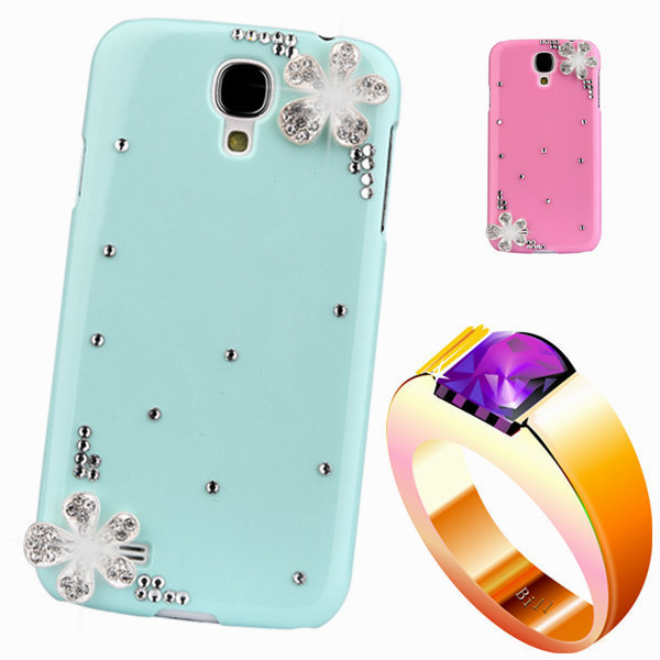 diamond rhinestone case For samsng Note 3 III Floral mobile Phones & Accessorie luxury bling plastic back cover For galaxy n9000(China (Mainland))