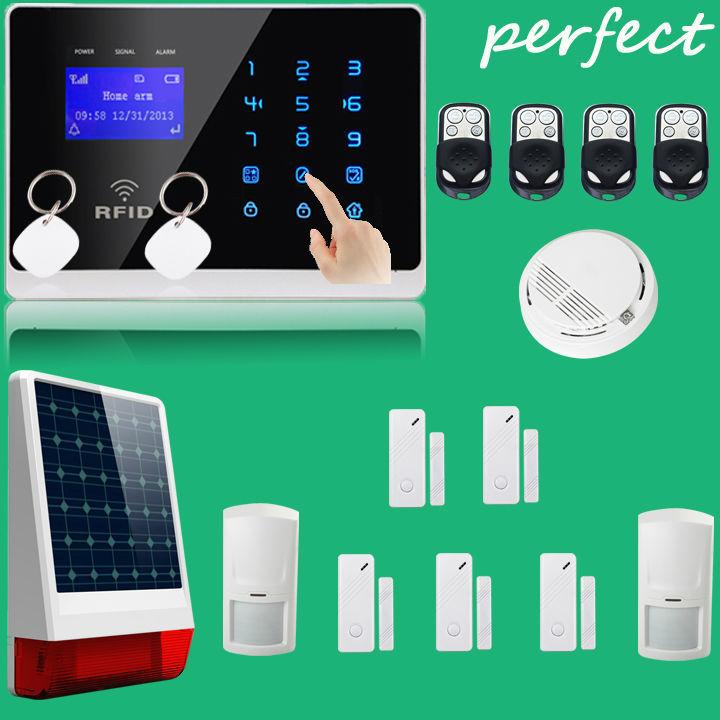Wireless Outdoor large Strobe Flash Siren powered solar siren+ Wireless GSM Auto Security Alarm System 433MHz/315MHz(China (Mainland))