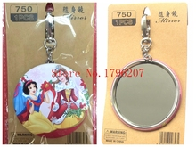 Free Shipping 10 pcs Princess  Cute Portable Compact Pocket Cosmetic Mirror Beauty Accessories For Best Gifts 7.5cm QS60(China (Mainland))