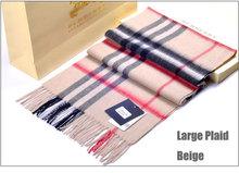 2014 New fashion 100% Cashmere unisex scarf solid plain scarves with tassel women winter warm bufanda hot sale(China (Mainland))