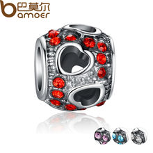 Luxury 925 Silver Heart CUBIC ZIRCONIA Charm with Fit Pandora Bracelet Necklace Pendant Original Jewelry PA5282